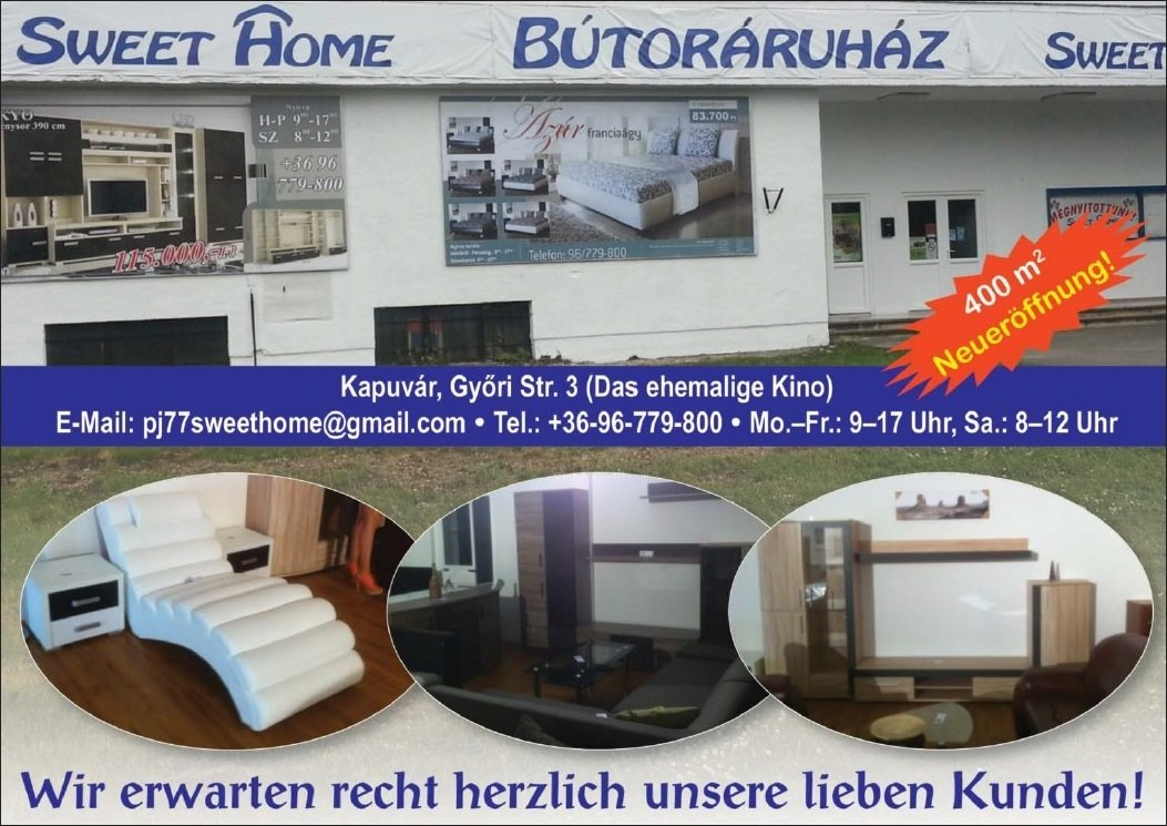 sweet home m belhaus ungarischedienstleistungen. Black Bedroom Furniture Sets. Home Design Ideas